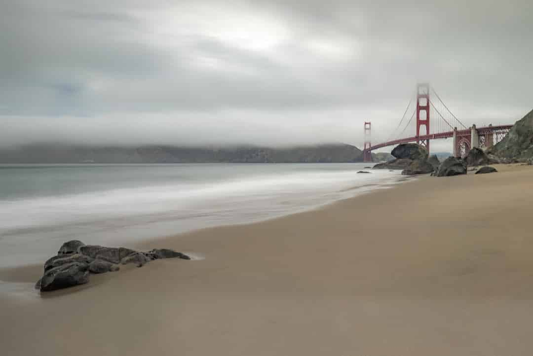 Golden Gate with beach